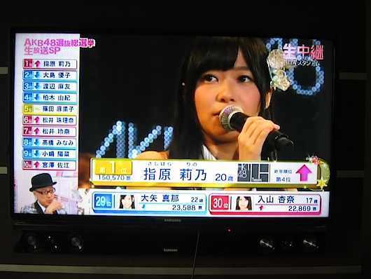 WD TV Live経由の映像 AKB48総選挙
